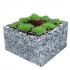 Steenkorf bloembak 90 x 90 x 50 cm